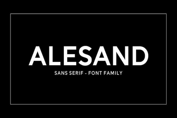 Thumbnail for Alesand Typeface