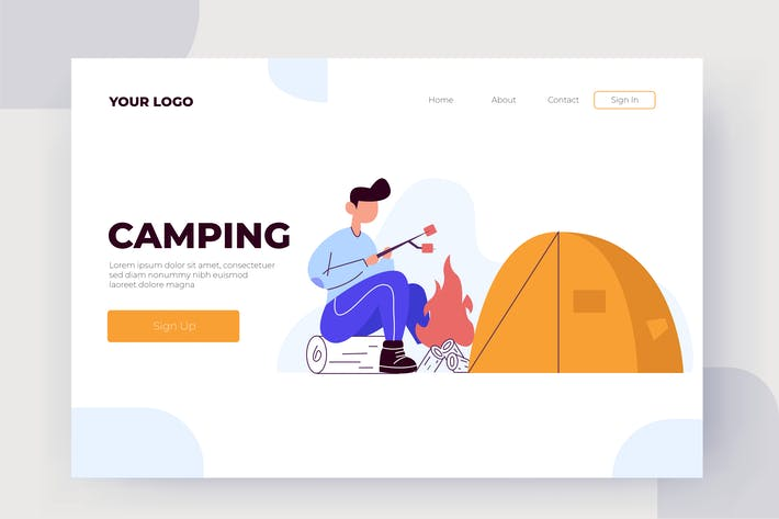 Thumbnail for Camping - Vector Illustration