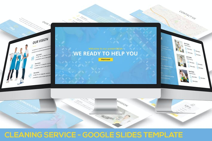 Thumbnail for Cleaning Service - Google Slides Template