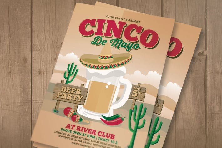 Thumbnail for Cinco De Mayo Celebration Flyer