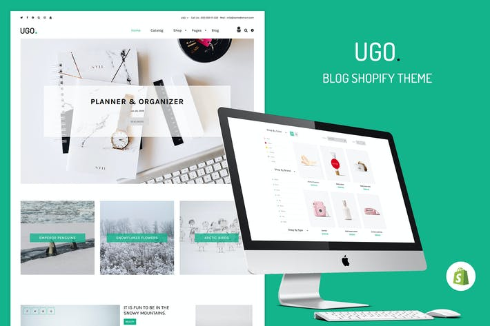 Thumbnail for Ugo - Blog Store Shopify Tema