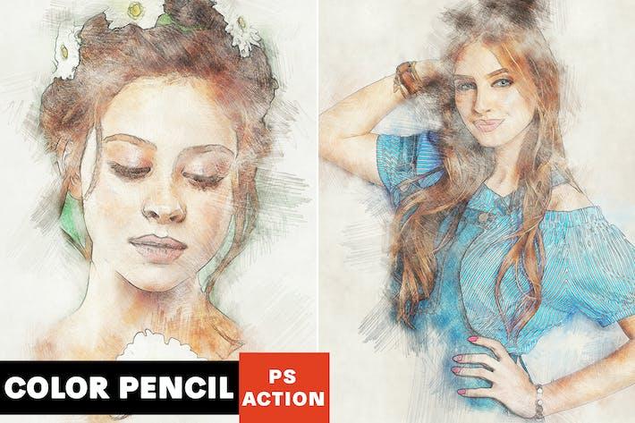 Thumbnail for Color Pencil Photoshop Action