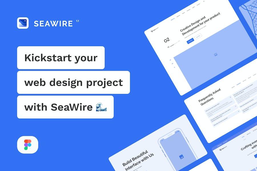 SeaWire - Figma Wireframe Kit for Website
