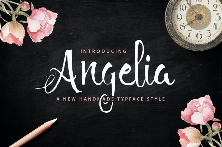 Thumbnail for Angelia Script