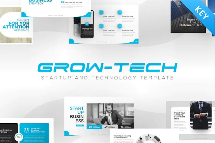 Thumbnail for Grow-Tech Business Startup keynote Template