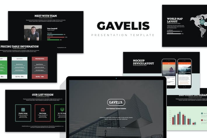 Cover Image For Gavelis : Company Business Proposal Keynote