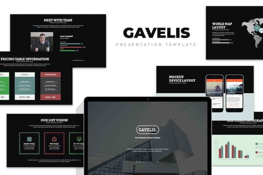 Gavelis : Company Business Proposal Keynote