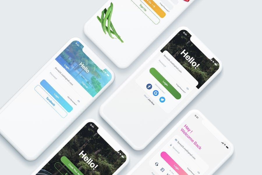 Login UI Screens