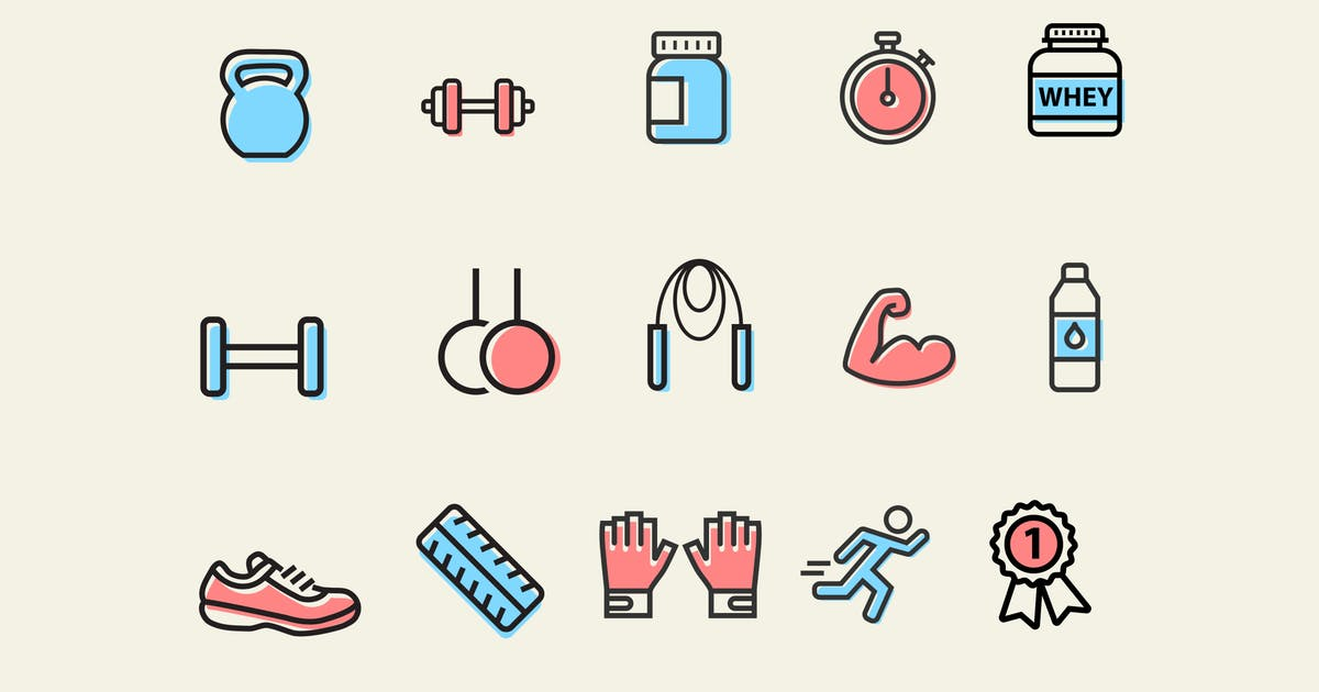 Download 15 Exercise and Muscle Icons by creativevip
