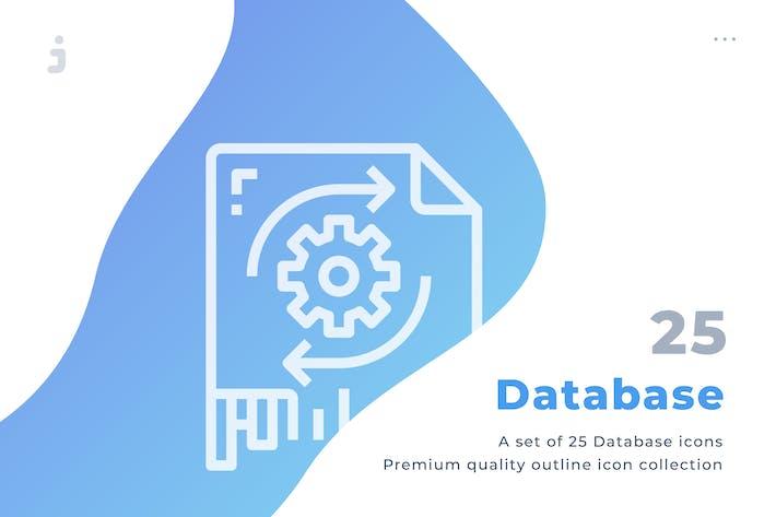 Thumbnail for 25 Database icon set