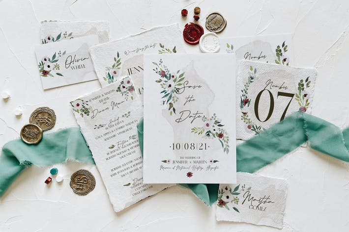 Thumbnail for White & Green Foliage Wedding Suite
