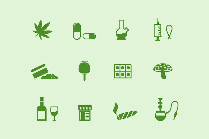 Thumbnail for 12 Drugs and Narcotics Icons
