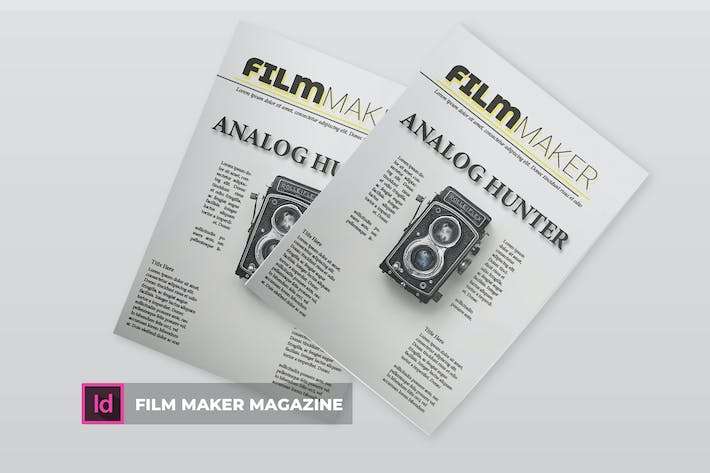 Thumbnail for Film Maker | Magazine Template