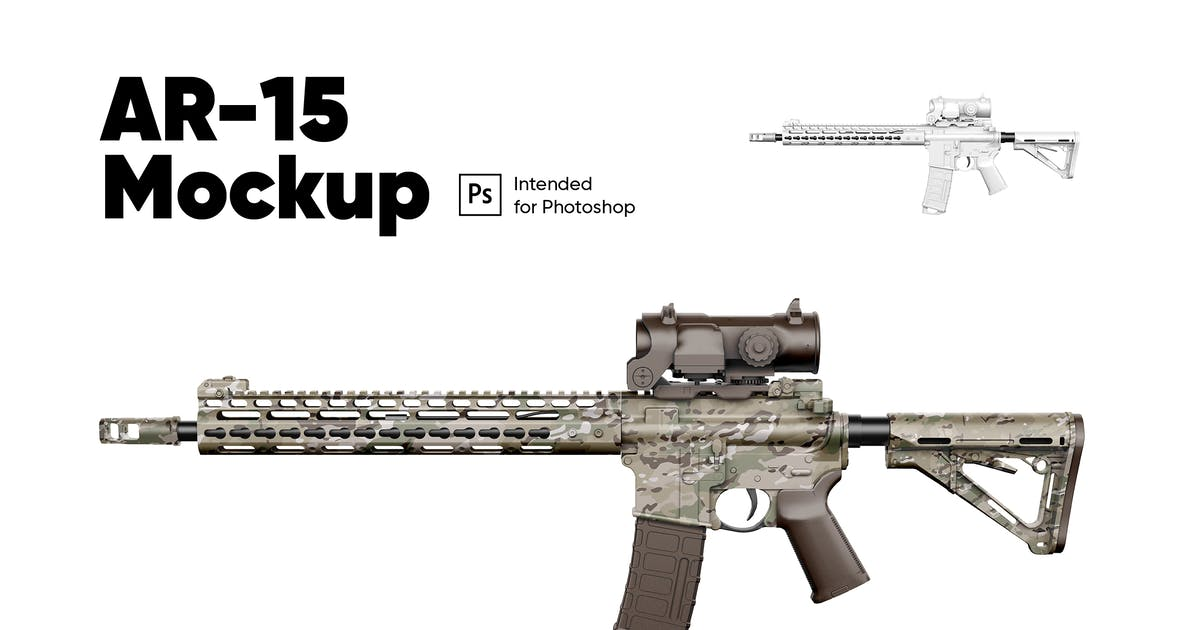 Download AR-15 Weapon Mockup by Kavoon