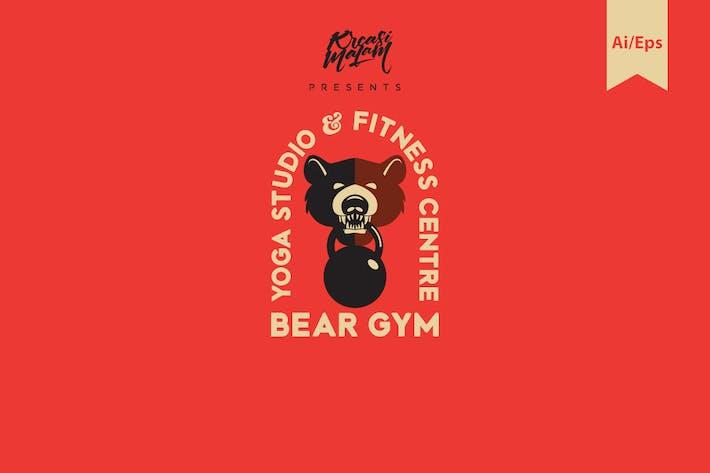 Thumbnail for Bear Gym Logo Template