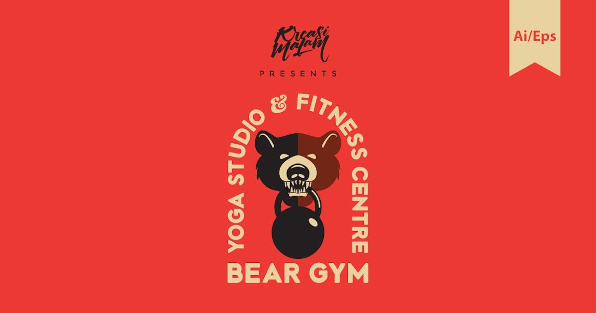 Download Bear Gym Logo Template by Ijajil