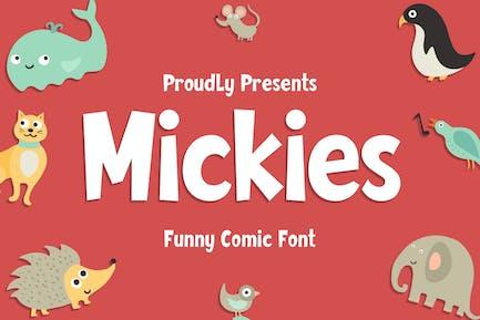 Mickies - Font de bande dessinée drôle