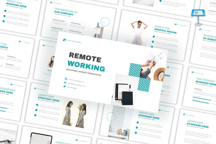 Thumbnail for Remote Working - Business Keynote Template