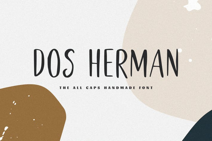 Thumbnail for Dos Herman - The All Caps Handmade Font