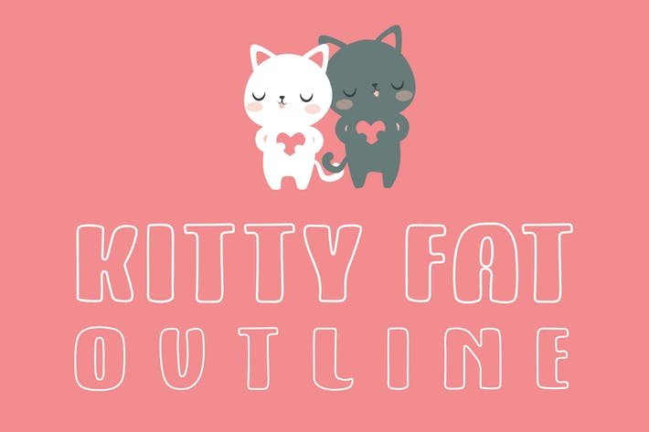 Cover Image For Kitty Fat - Outline