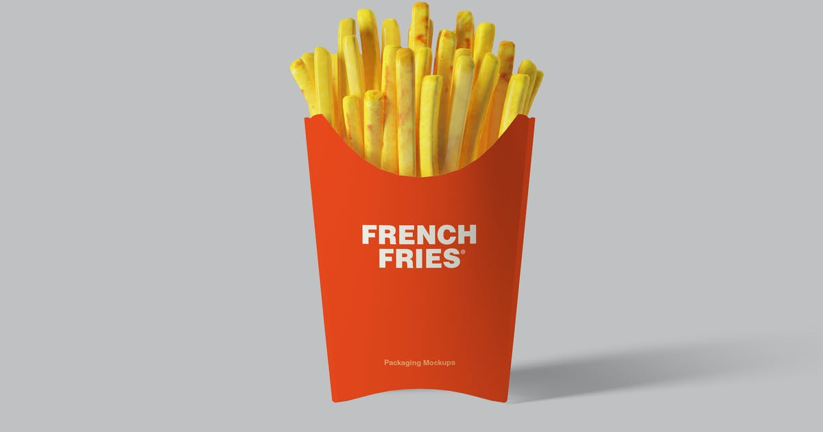 Download French Fries Packaging Mockups by artimasa_studio