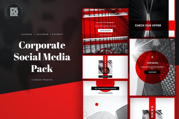 Thumbnail for Corporate Banners Social Media Pack