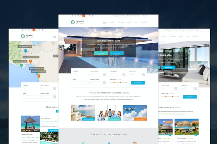 Thumbnail for Qvrenti -  Responsive Real Estate PSD template
