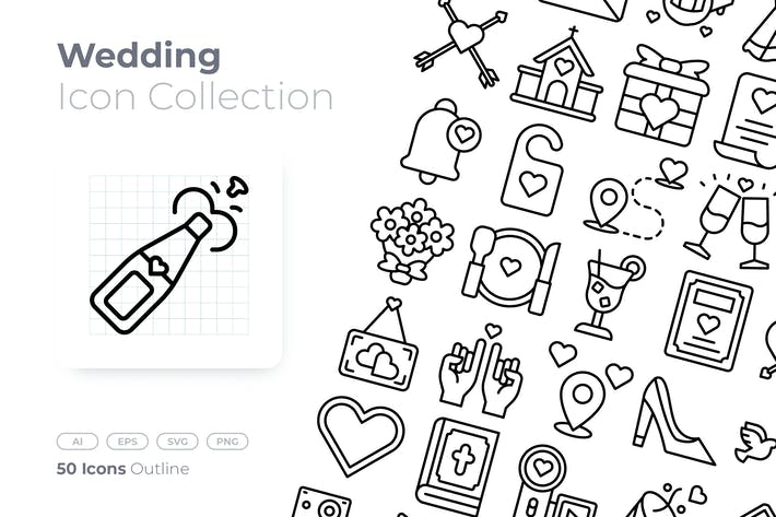 Thumbnail for Wedding Outline Icon