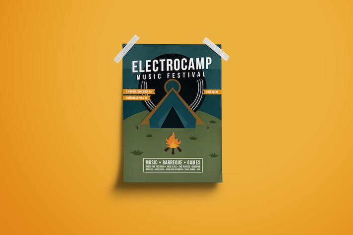 Thumbnail for Electro Camp Music Festival Poster