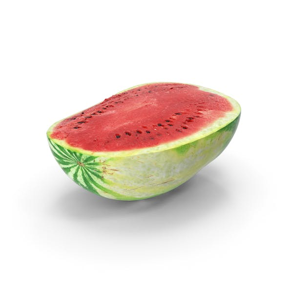 Watermelon Half Cut