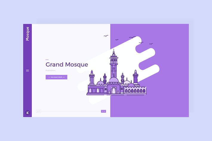 Thumbnail for Mosque - Hero Banner Template