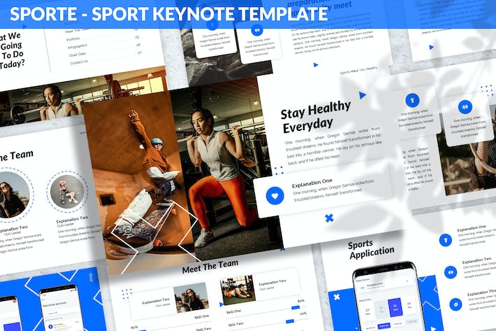 Thumbnail for Sporte - Sport Keynote Template