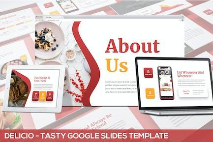 Delicio - Tasty Google Slides Template