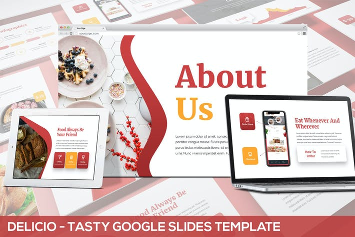 Thumbnail for Delicio - Tasty Google Slides Template