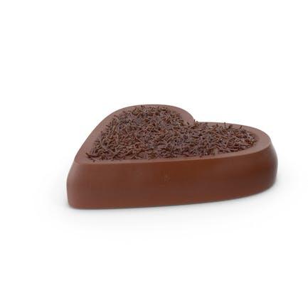 Herz Schokoladenbonbons mit Schokoladen-Pops