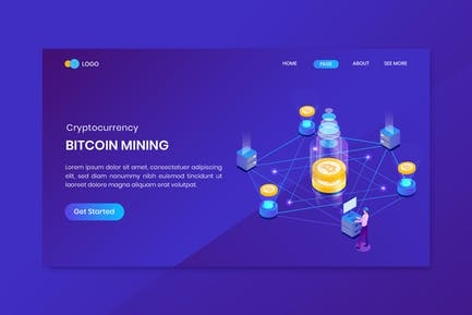 Isometric Bitcoin Cryptocurrency  Investment