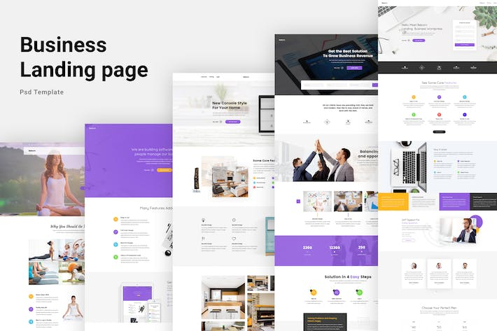 Thumbnail for Business Landing Page Website Template