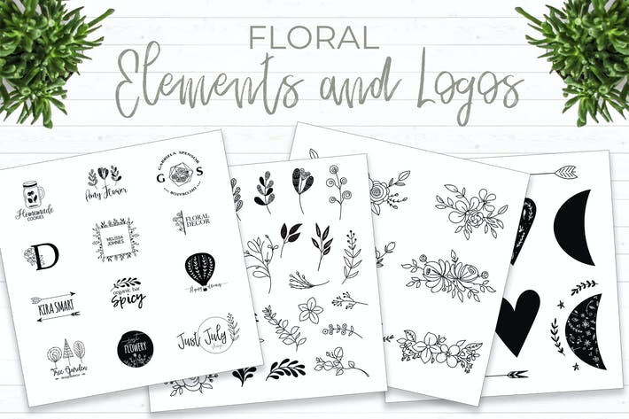 Thumbnail for Floral elements and logos