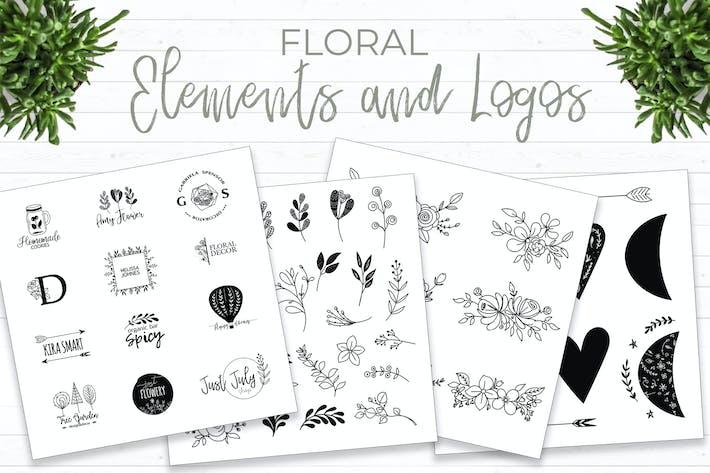 Thumbnail for Elementos florales y Logotipos