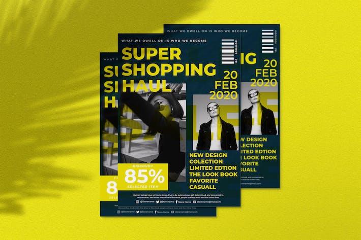 Thumbnail for Shopping Haul Flyer