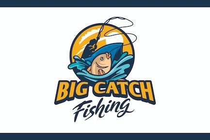 Illustrative Fishing and Angler Logo