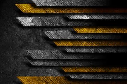 Schwarz orange abstrakter Tech-Grunge-Hintergrund