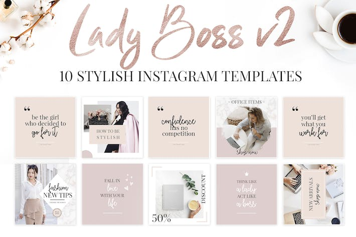 Thumbnail for Lady Boss Instagram Templates-2