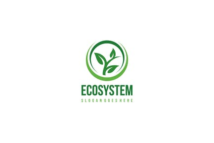 Eco and Leaf Logo
