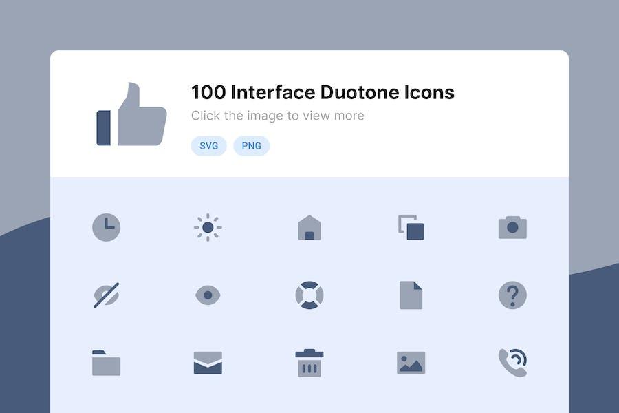 Benutzeroberfläche Duotone Icons