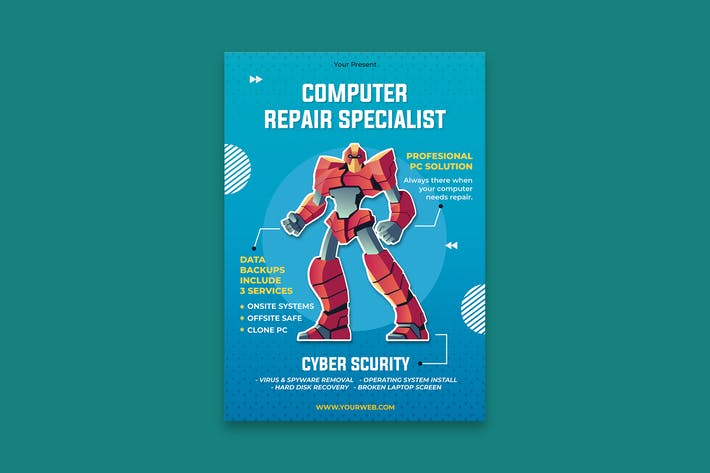 Thumbnail for Computer Service Poster