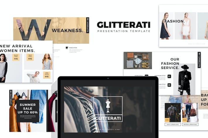 Thumbnail for Glitterati : Fashion and Clothing Google Slides