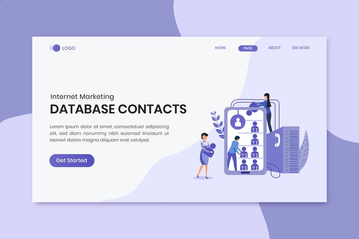 Thumbnail for Database Contacts Marketing Landing Page
