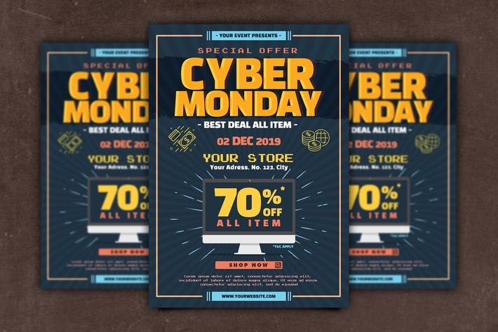 Thumbnail for Cyber Monday Flyer