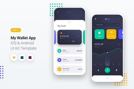 My Wallet App iOS & Android UI Kit Template 1